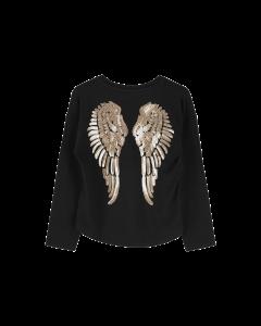 Shirt Angels Face  SERAFINA WINGS black